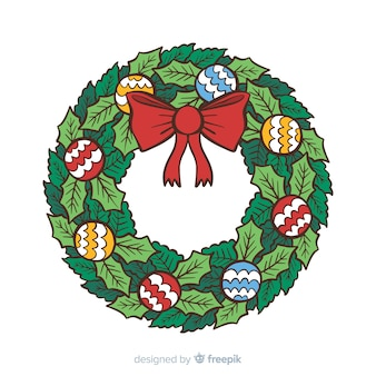 Decorative christmas wreath background