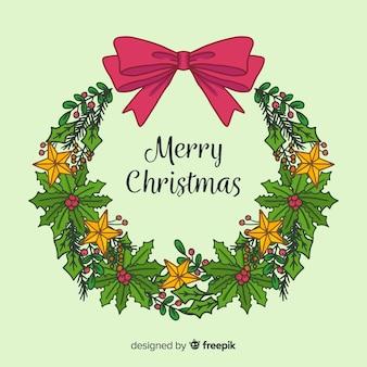 Decorative christmas wreath background