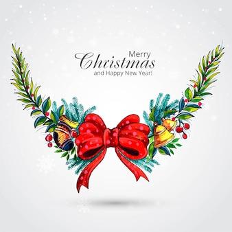 Декоративный рождественский венок праздничная открытка фон
