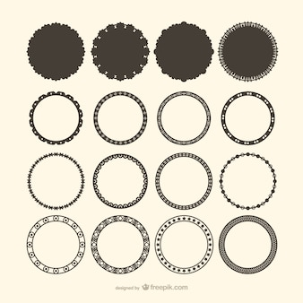 Decorative circle frame vectors