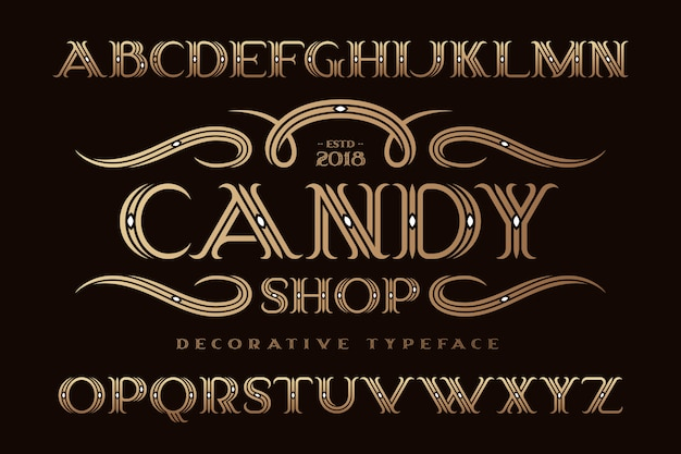 장식 클래식 스타일 글꼴 세트
