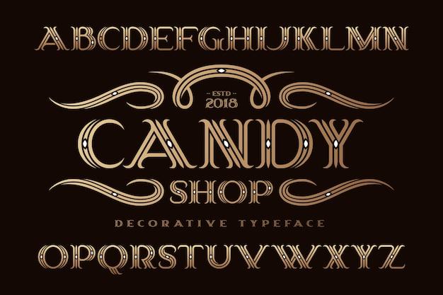 Decorative classic style font set