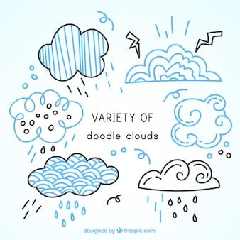 Декоративные облака каракули комплект