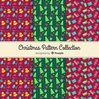 Decorative collection of christmas patterns