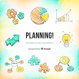 Decorative collection of planning elements