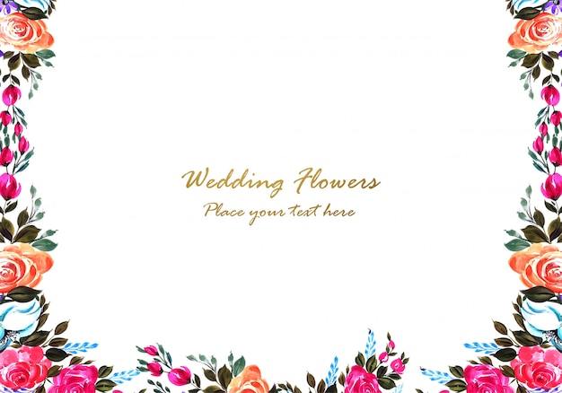 Decorative colorful floral frame design