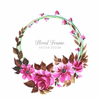 装飾的なカラフルな花フレームの背景