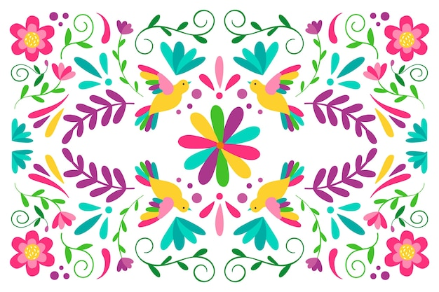 Decorative colorful mexican background