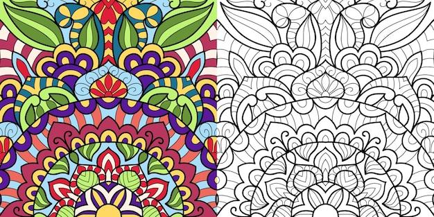 Декоративная раскраска для взрослых и детей