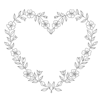 Decorative concept floral heart illustration for valentine's day and decoration