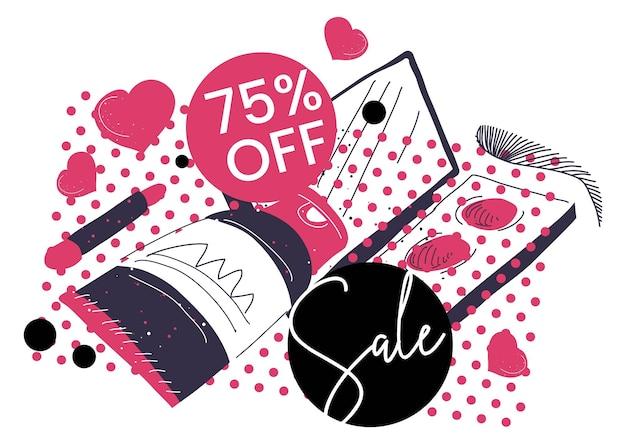 장식용 화장품 판매, 75% 할인