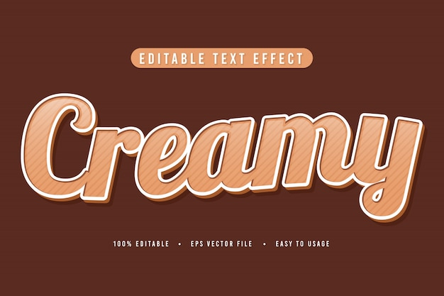 Decorative creamy font and alphabet vector