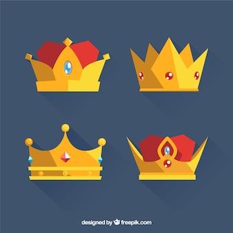 Decorative crowns with precious stones