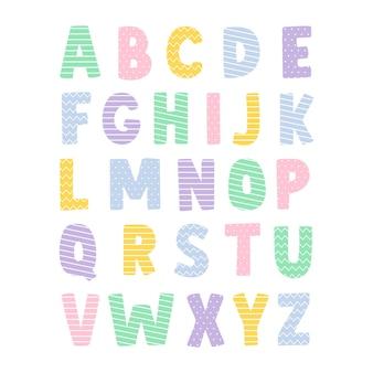 装飾的なかわいいフォントとアルファベット