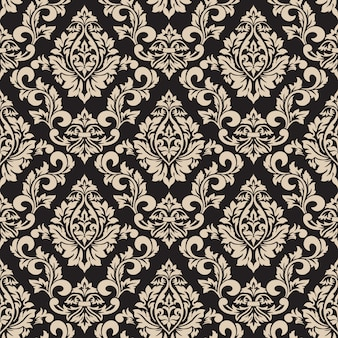 Decorative damask pattern