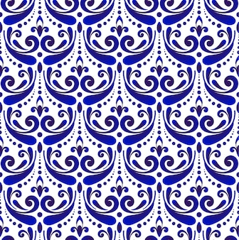 Decorative damask pattern