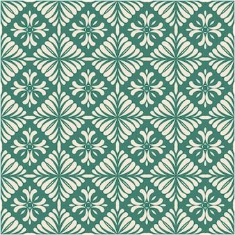 装飾的なダマスク織のシームレスなパターン背景