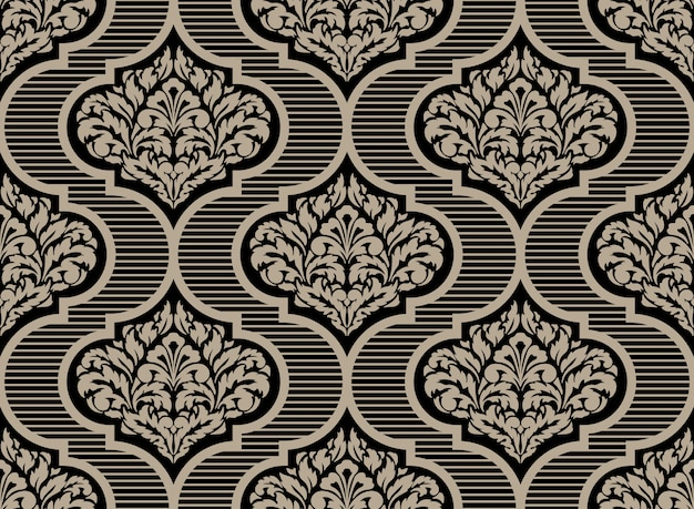 Decorative damask seamless pattern