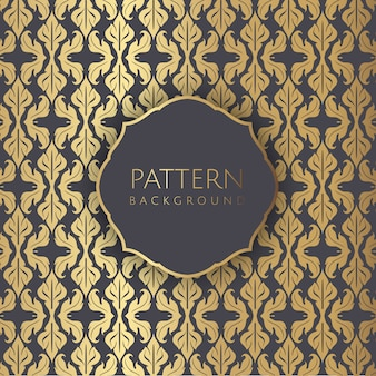 Decorative damask style seamless pattern wallpaoer