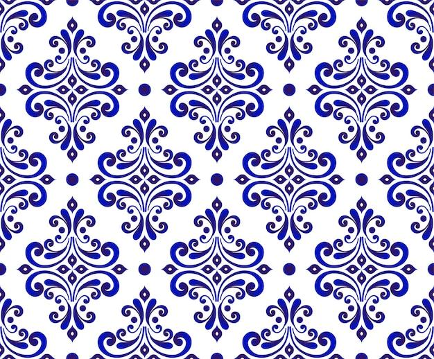 装飾的なダマスク織の壁紙