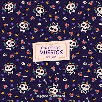 Decorative dia de muertos pattern