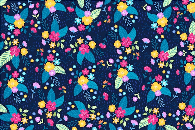 Decorative ditsy floral background