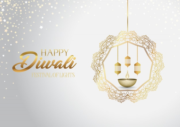 Decorative diwali background