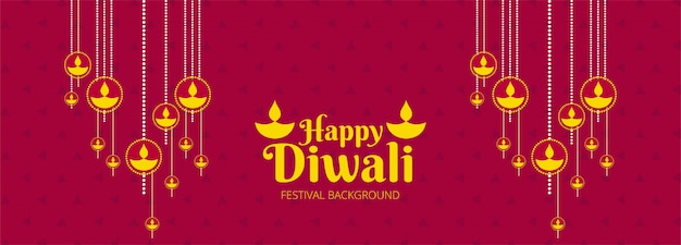 Decorative diwali festival celebration banner colorful