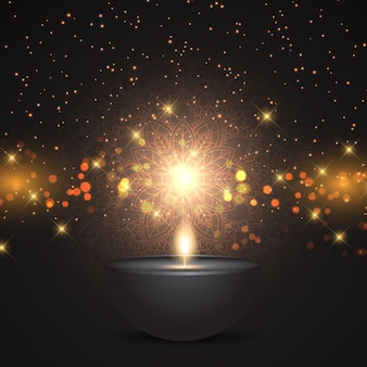 Festival di diwali decorativo di disegno di sfondo luci