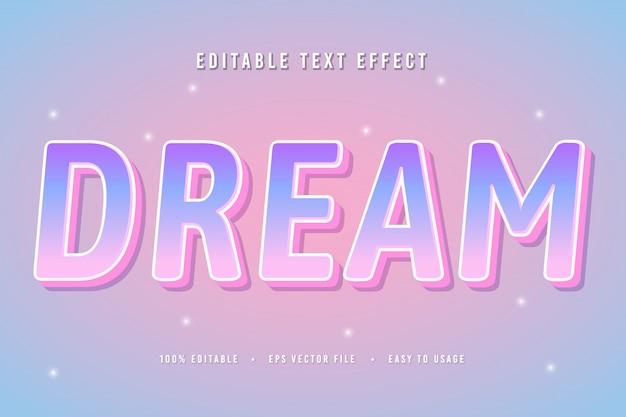 Декоративный шрифт мечты и вектор алфавита