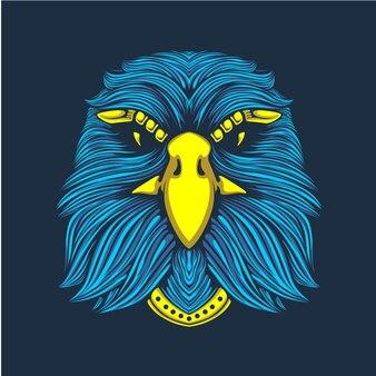 Декоративные иллюстрации головы орла