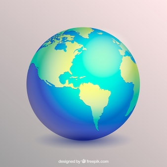 Decorative earth globe in realistic design