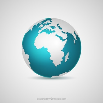 Decorative earth globe in realistic design