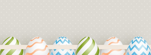 Decorative easter eggs illustration