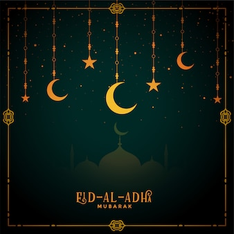 Decorative eid al adha mubarak festival background
