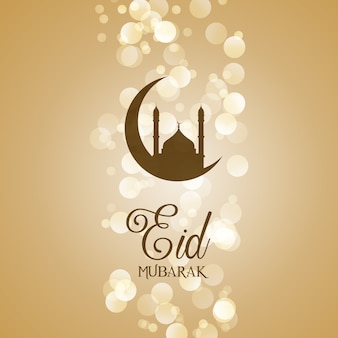 Decorative eid mubarak greeting card