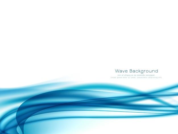 装飾的なエレガントな青い波の背景