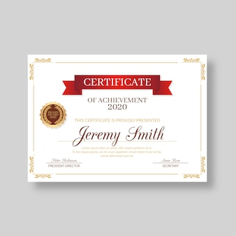 Decorative elegant certificate