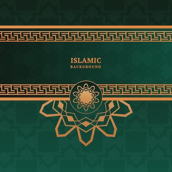 Декоративный элегантный исламский фон с рамкой