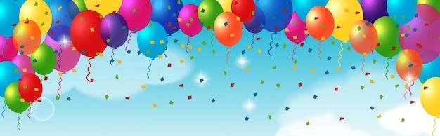 Декоративный элемент с воздушными шарами