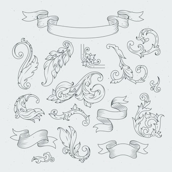 Decorative elements in baroque style.