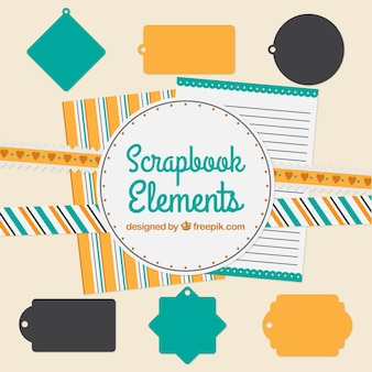 Decorative elements for scrapbooking