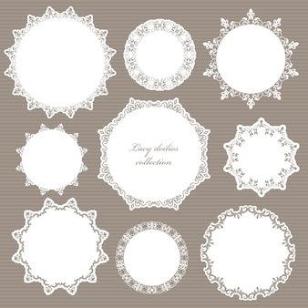 Decorative elements set for wedding