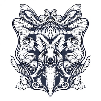 장식 코끼리 작품 디자인
