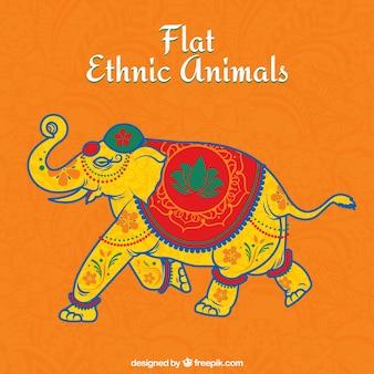 Decorative elephant in ethnic style