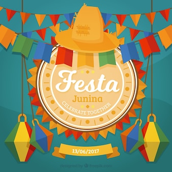 Decorative festa junina background