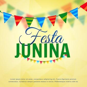 Decorative festa junina design