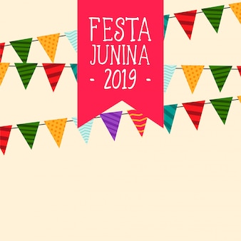 Decorative festa junina flags background