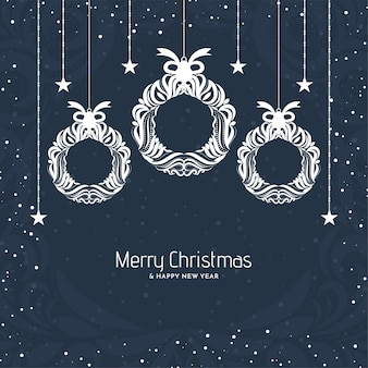 Decorative festival celebration background for merry christmas
