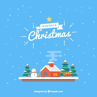 Decorative flat christmas background
